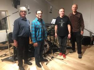 L-R; TC, Dan Palladino, Karl Latham, Dave Hofstra. session, Halloween, 2017
