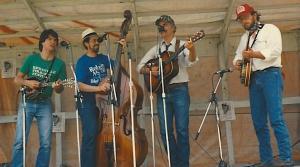 """Cold Springs Bluegrass BandNY festival, 1990TC, Dennis Cash, Neil Morris, """"Oz"""" Nauman"""