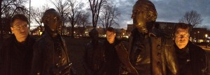 Dr. Gary Eddey clones with the fathers of the American Revolution. Mo'town, NJ