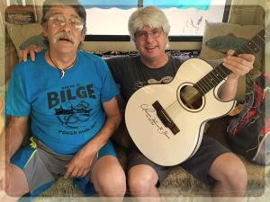 Captain Albert and TC with Gatemouth Brown's 12 string, April 30, 2018