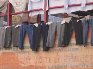 Dry cleaning Varanasi, India 2011