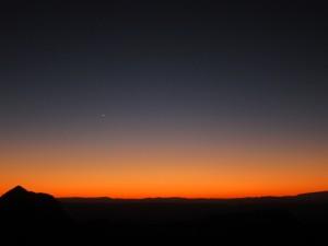 Venus and Sunset, Sotol Vista, Big Bend