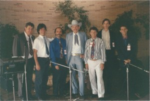 Tex Logan retirement party, 1993. Bernie, TC, Jim Baldassari, Tex, John Carlini, Greg Cohen, Barry Mitterhoff
